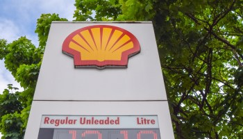 Shell station sign