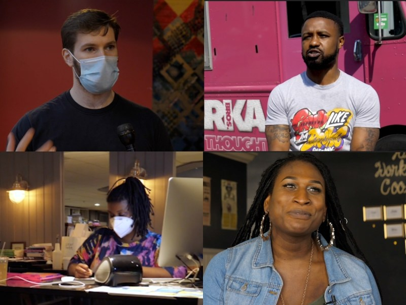 four worker-owners of Baltimore businesses