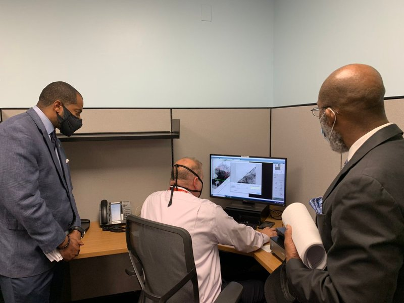 Baltimore City Council President Nick Mosby tours the Baltimore Police Department's Crime Lab on Aug. 26. Photo credit: @BaltimorePolice