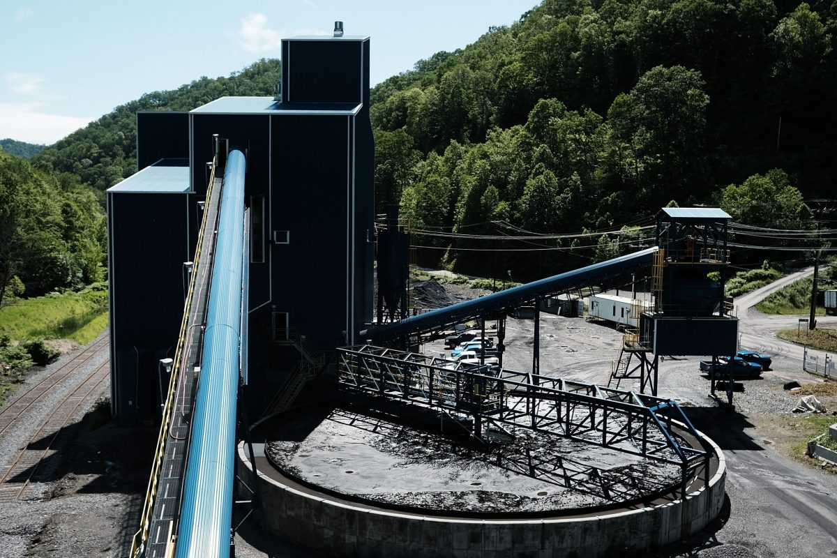 A coal prep plant outside the city of Welch in rural West Virginia