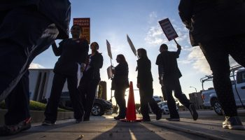 Nurses walk the picket line during a one-day strike