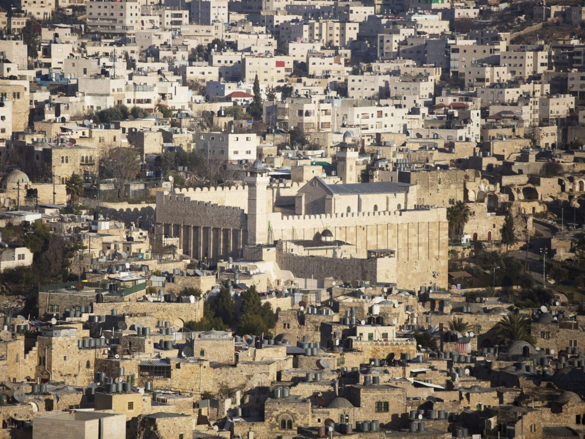 The West Bank city of Hebron