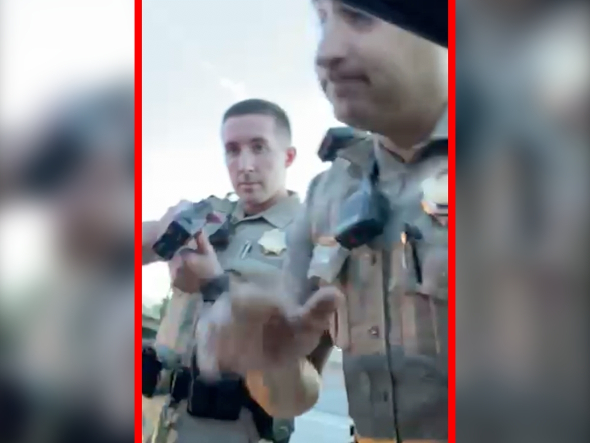 Cell phone camera video of patrol officers