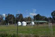 In Coonabarabran. Property with several observatories