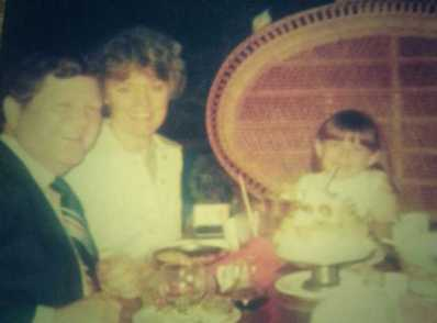 Dad, Mom & Me (always) at the Luau; Bev Hills