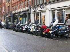 Vespas near Covent Garden