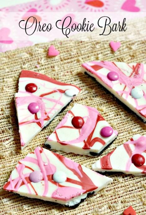 Valentine's Day Oreo Cookie Bark Recipe