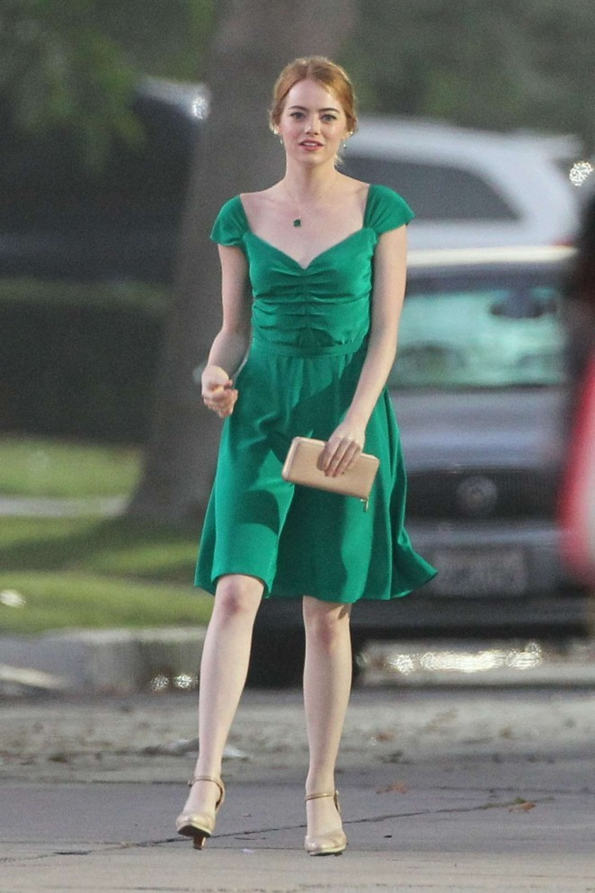 emma-stone-green-dress-la-la-land-2