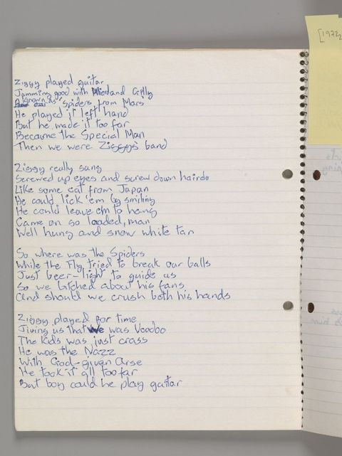 hbz-david-bowie-brooklyn-museum-original-lyrics-for-ziggy-stardust-by-david-bowie-1972-1507140913