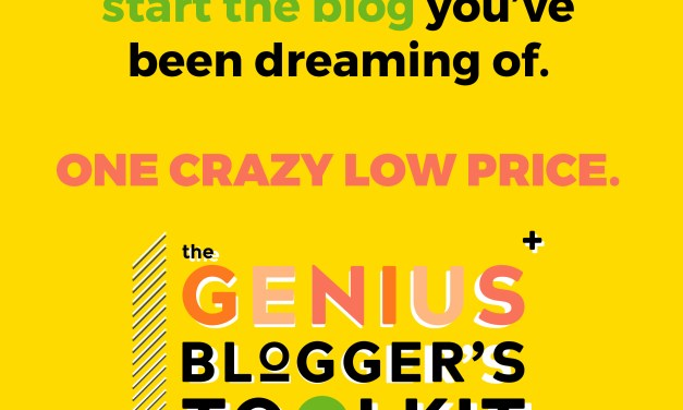 Flash Sale: The Genius Blogger's Toolkit 2018