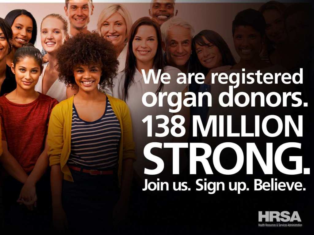 Sign up to be an organ donor