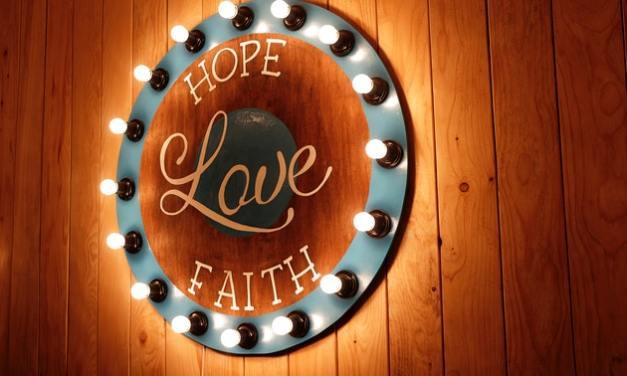 Keep the faith through hard times