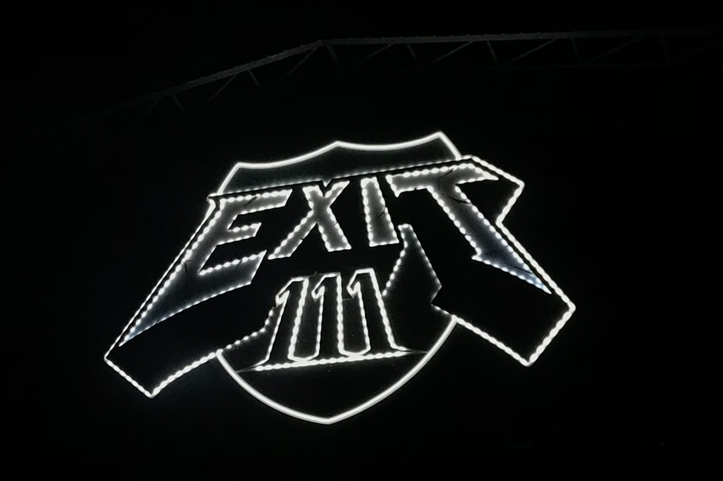 Exit 111 Lit up sign
