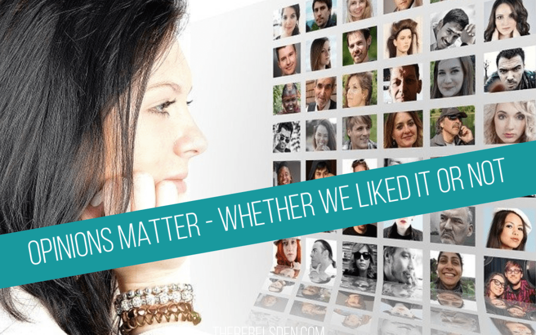 OPINIONS MATTER - WHETHER WE LIKED IT OR NOT