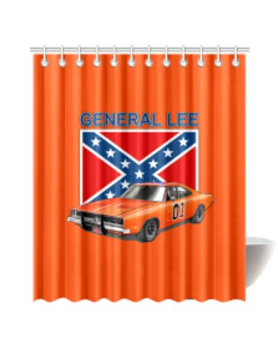 dukes of hazzard general lee shower curtain