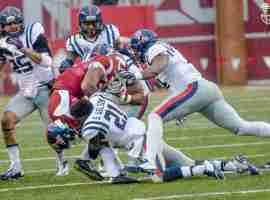 Golson hits so hard he loses helmet