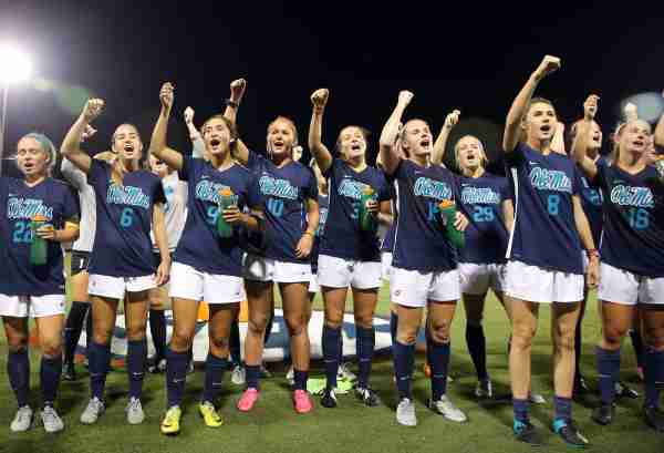 Depth and teamwork leading to success for Coach Mott, Ole Miss soccer