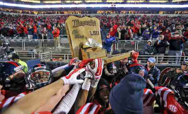 Postgame Press Conference: Rebels celebrate Magnolia Bowl win