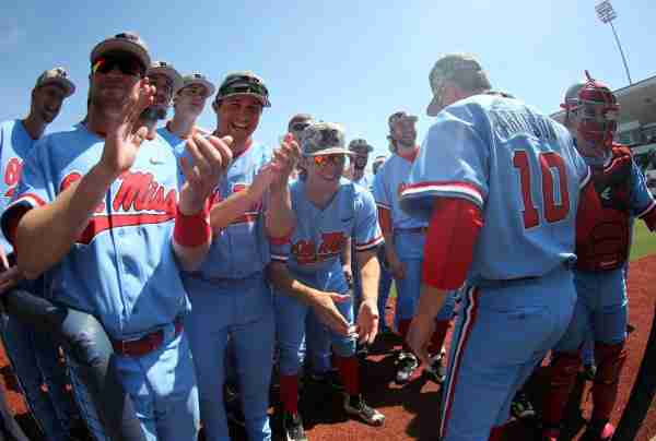 No. 14 Ole Miss completes sweep over No. 21 Arkansas with 8-7 victory in game three