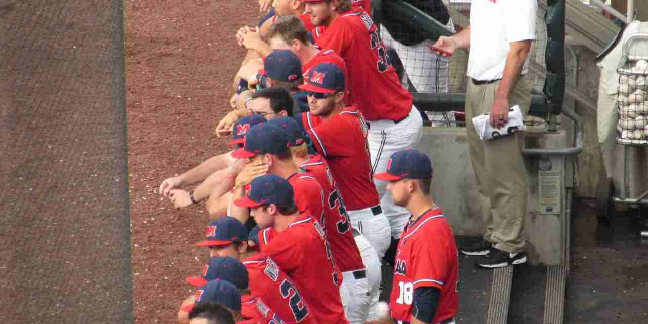 Sixth-inning surge lifts No. 2 Aggies over No. 6 Rebels in game one of series