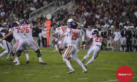 Teammates' support helped Patterson remain confident during Rebels' win over Aggies