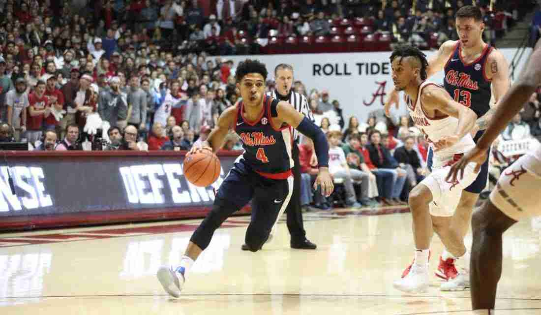 Ole Miss drops road contest to Alabama, 74-53