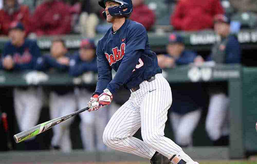 Kessinger's ninth-inning double gives Rebels 4-3 win over Arkansas, evens series