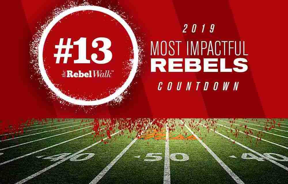 Most Impactful Rebels for 2019: No. 13 Jacquez Jones