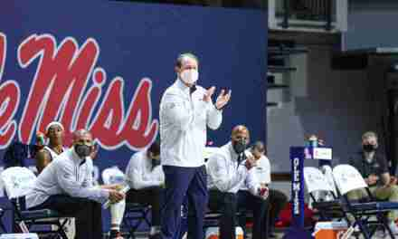 Rebels Beat Central Arkansas, 68-54, in Kermit Davis' 800th Game as a Head Coach