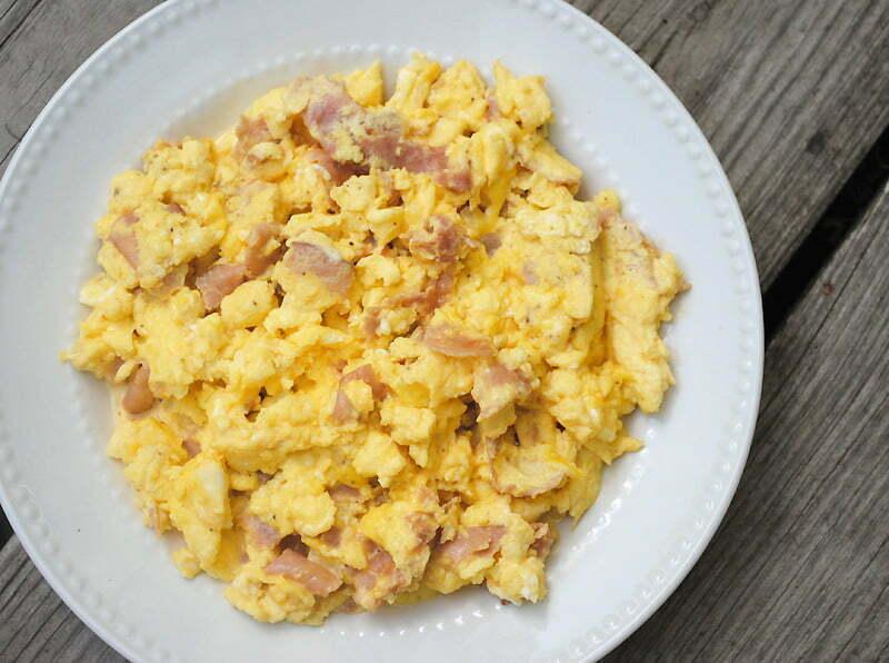Scrambled Eggs and Ham - TheRecipe.Website