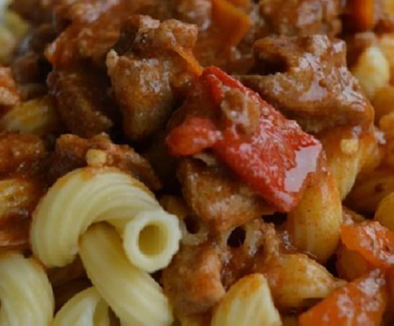 Pasta Stew with Rosemary Pork