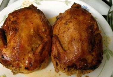 Rock Cornish Game Hens With Prune Stuffing - TheRecipe.Website