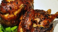 Game Hens with Cranberry Barbecue Sauce