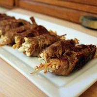 Japanese Beef and Scallion Rolls