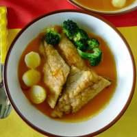 Spanish Fish in Saffron Sauce (Pescado en Amarillo)