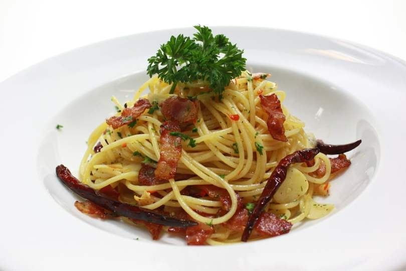 Linguini with Bacon and Scallops