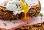 Poached Egg, Ham and Mustard on Toast