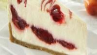 White Chocolate Cherry Mousse Cheesecake