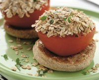 Oat Topped Baked Tomatoes