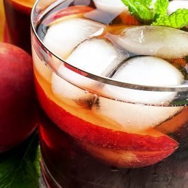 Ginger and Peach Iced Tea