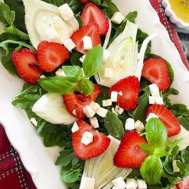 Strawberry Fennel Salad with Homemade Vinaigrette