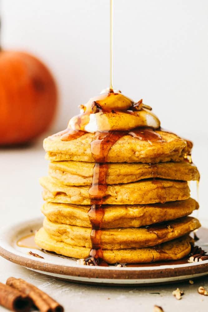 Delicious, Fluffy, spiced pumpkin pancakes