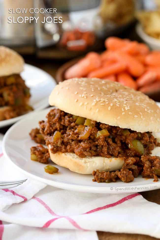 Slow Cooker Sloppy Joes