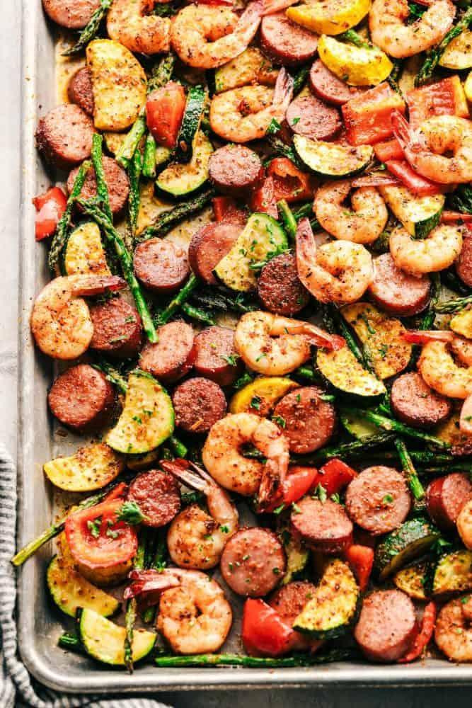 Sausage & Vegetable Sheet Pan