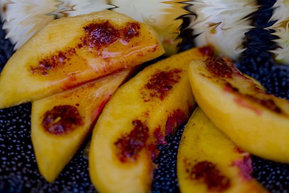 Peaches with Tajin