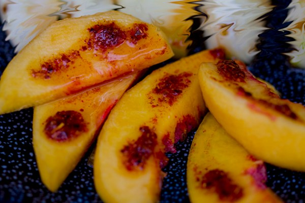 Peaches with Tajin