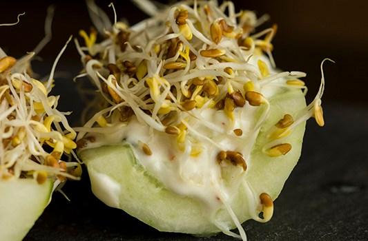 Cucumber Boat Salad