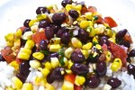 black bean roasted corn salad