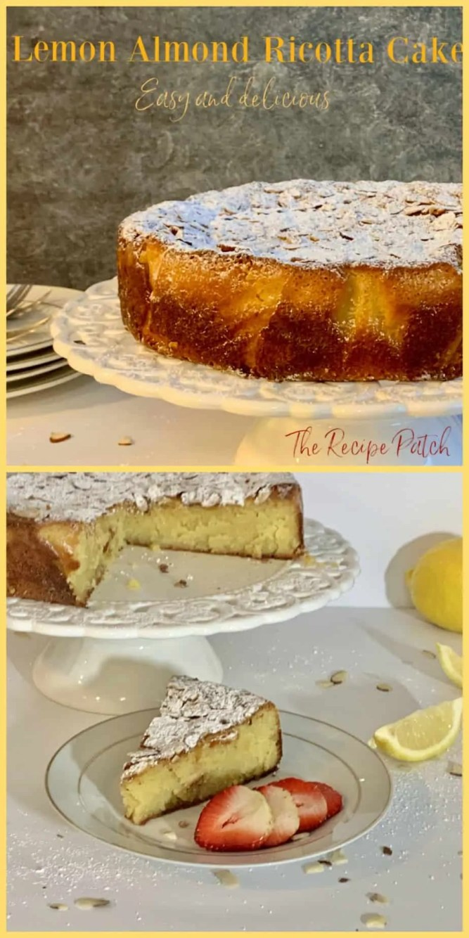 Lemon and almond ricotta cake