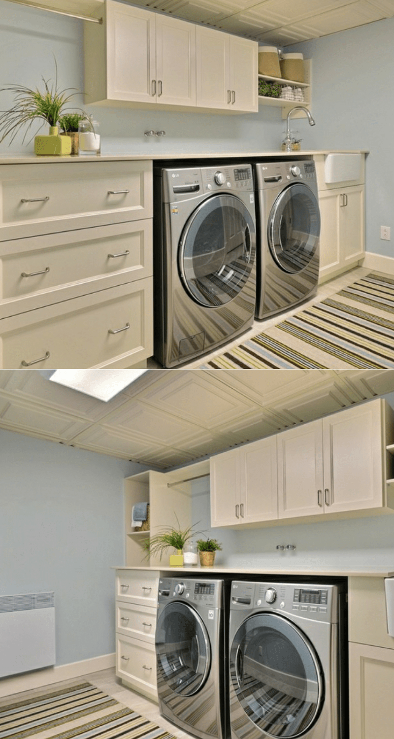 basement ideas storage playroom laundry room